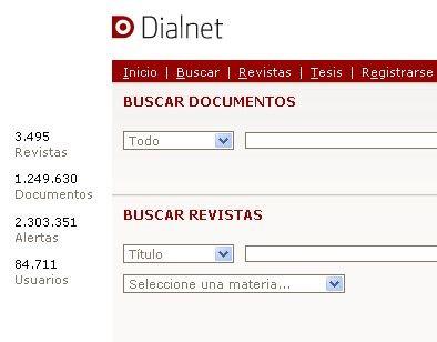 DIALNET: MÁIS DE CEN MIL ARTIGOS A TEXTO COMPLETO